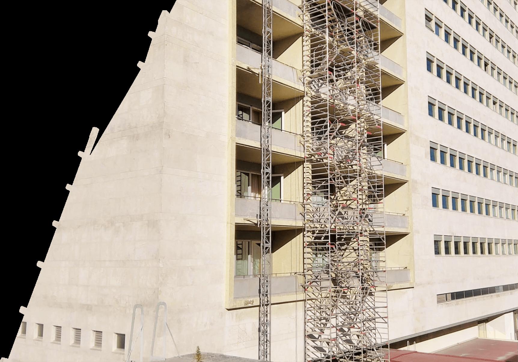 Torre de escada dupla